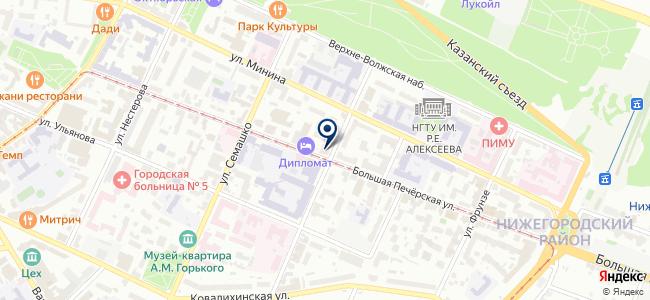 Центр Серна на карте