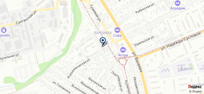 Юнидеф на карте