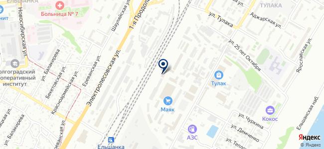 Волгоградэлектро, ООО на карте