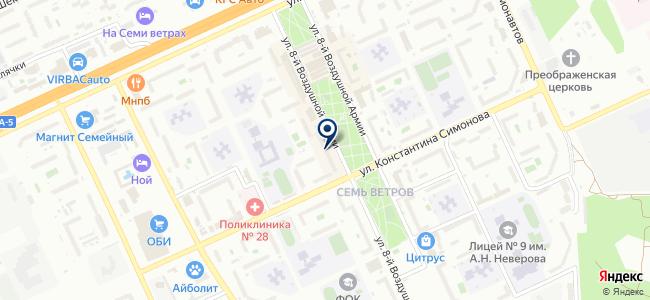 Сеть магазинов инструментов на карте