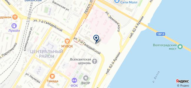 Информационно-аналитический центр, Волгоградская торгово-промышленная палата на карте