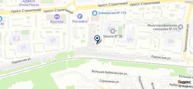 Юна на карте