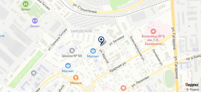 Магазин хозтоваров на ул. Беляева, 4 на карте