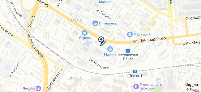 Пензенские Автобусные Линии на карте