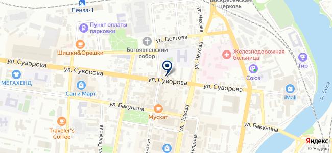 Элдом-Пенза на карте