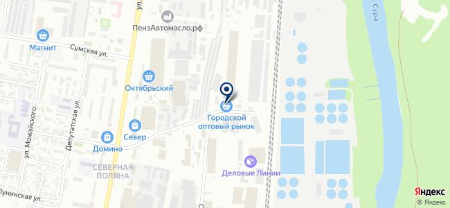 Мегаполис Пенза на карте