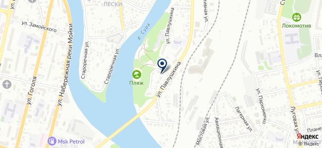 Автэл на карте