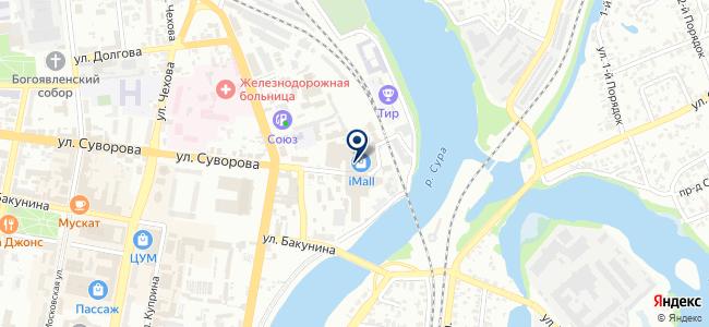 Люстра на карте