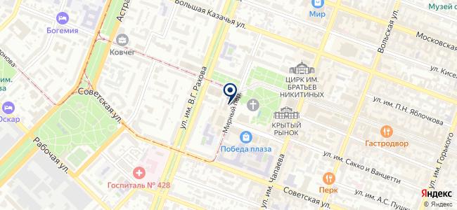 Центральный переговорный пункт на карте