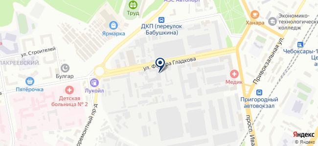 ПетроИнтрейд-НН, ООО, торговая компания, филиал в г. Чебоксары на карте