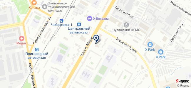 Поволжье, ЗАО на карте