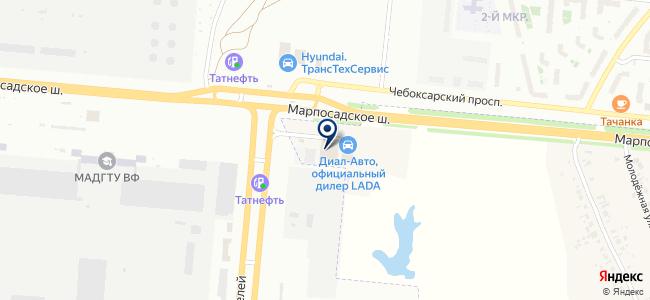 Автон на карте