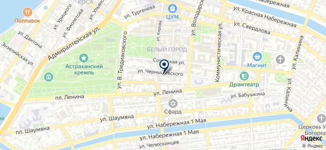 Центр обслуживания клиентов г. Астрахани на карте