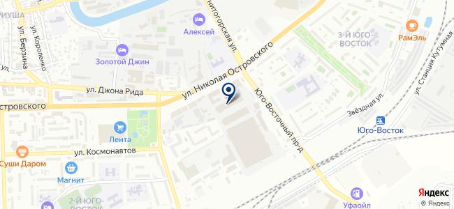 Сеть магазинов подшипников и инструментов на карте