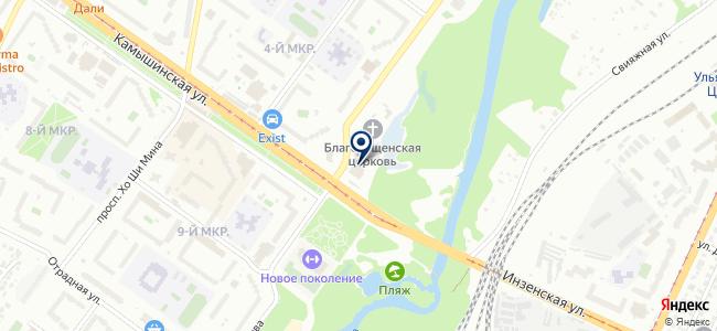Сеть магазинов светотехники на карте