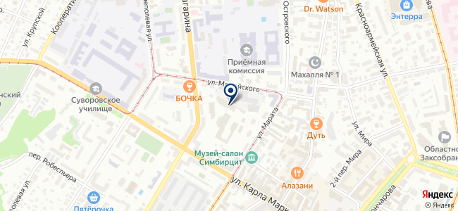 Симбирский бытовой центр на карте