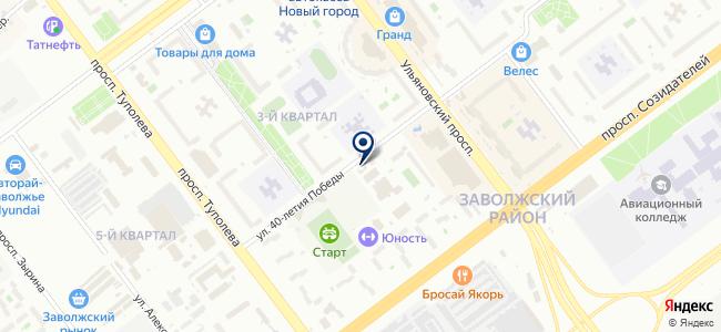 Универсал+ на карте