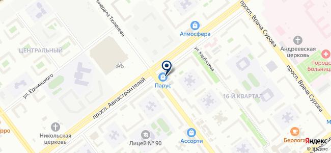 Магазин светотехники и картин на карте