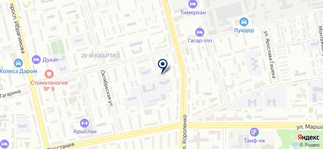 Производственная база на карте