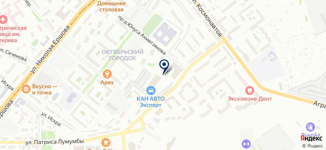 Казанский на карте