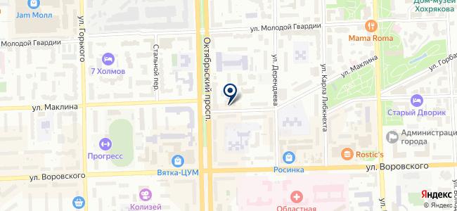 Вятские информационные технологии, ООО на карте