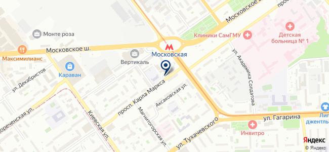 Государственный региональный центр стандартизации, метрологии и испытаний в Самарской области на карте