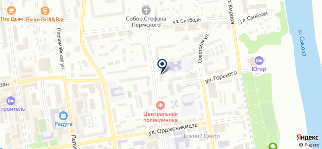 Коруна, ООО на карте