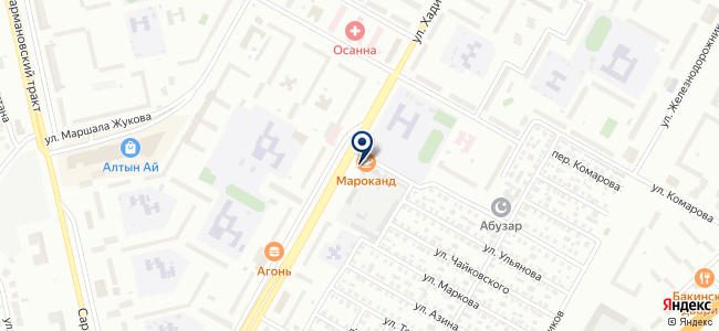 Центр сервисного обслуживания на карте