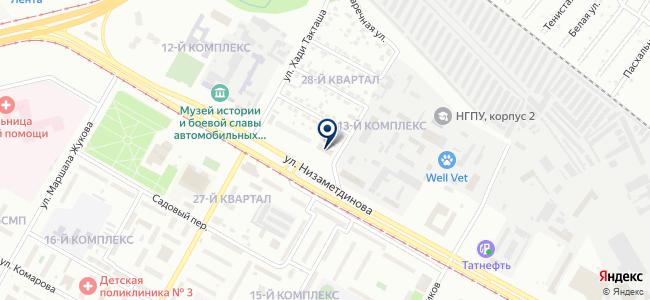 Челнинский экспертный центр на карте