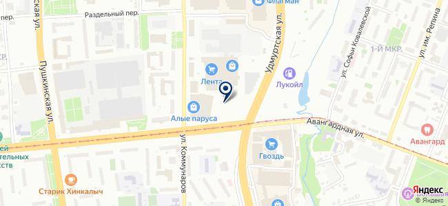 Крепленд на карте