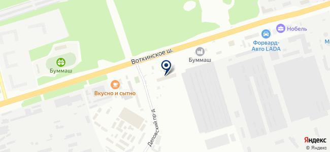 ИжТеплоСнаб, ООО на карте