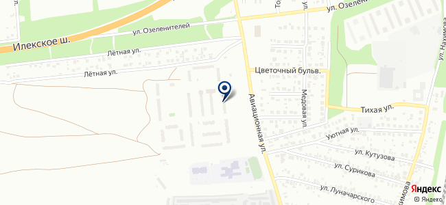 Универсальный магазин на Авиационной, 8 на карте