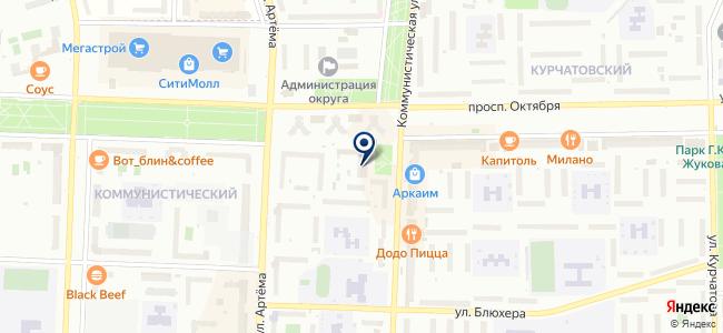 Центр обслуживания на карте