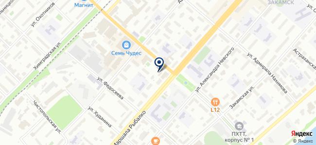 Мастерская авторемонта на ул. Маршала Рыбалко, 23а на карте