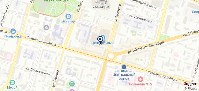 Объектив на карте