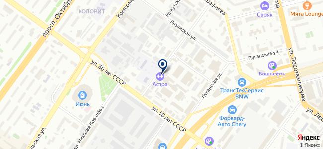 Уфа-Дизель на карте