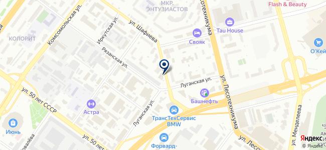 Центр информационно-коммуникационных технологий Республики Башкортостан, ГУП на карте