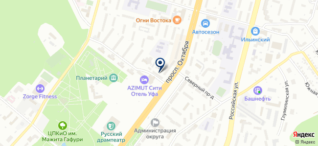 Антаир, ООО на карте