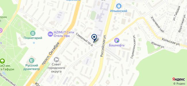 Башавтокод, ООО на карте