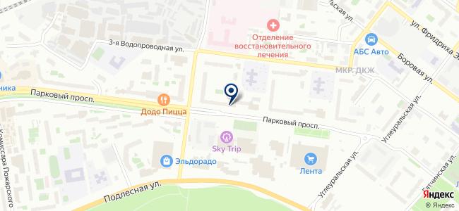 Магазин электротоваров и светотехники на карте