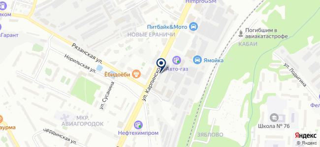 Куна на карте