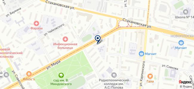 Сеть магазинов товаров для дома на карте