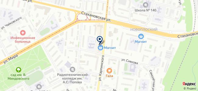 Сеть магазинов электротоваров на карте