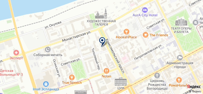 Объединенная Диспетчерская Служба на карте
