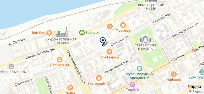 Инструмент Промснаб на карте