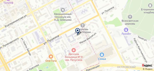 ЭМК Импульс на карте
