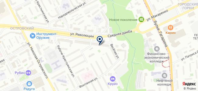 Территория инструмента на карте