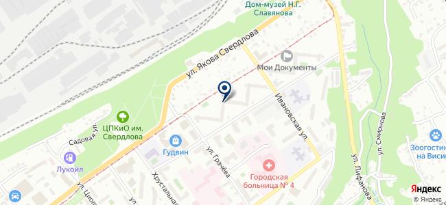 Косна на карте