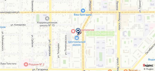 Сеть магазинов бензо и электроинструментов на карте