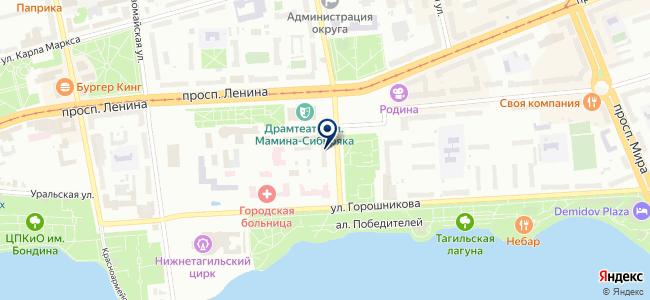 Тагил на карте